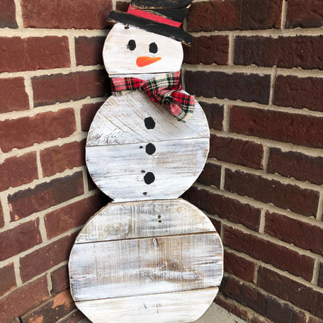 Snowman-with heart