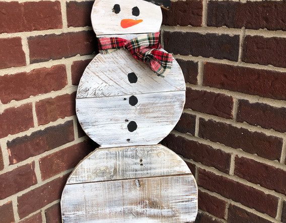 Wood Large Snowmen