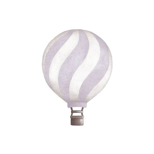 Dusty Lavendar Wavey Vintage Balloon Wall Sticker