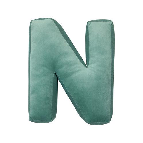 Velvet Letter N Mint
