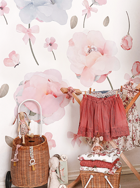Bows & Roses Wall Stickers - Pack 1