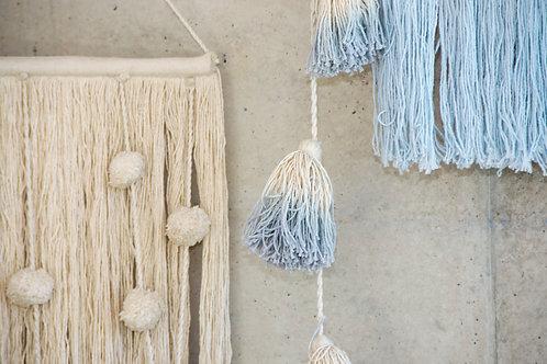 Lorena Canals Pom Pom Garland Tie-Dye Soft Blue