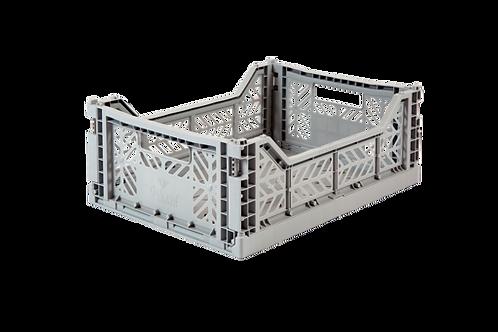 Aykasa Midi Foldable Crate in Grey