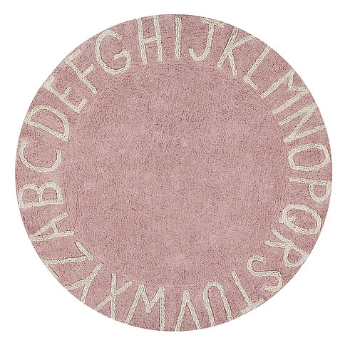Lorena Canals Washable Rug Round ABC Nude-Natural