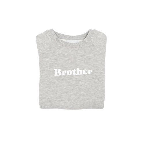 Grey Marl 'BROTHER' Sweatshirt