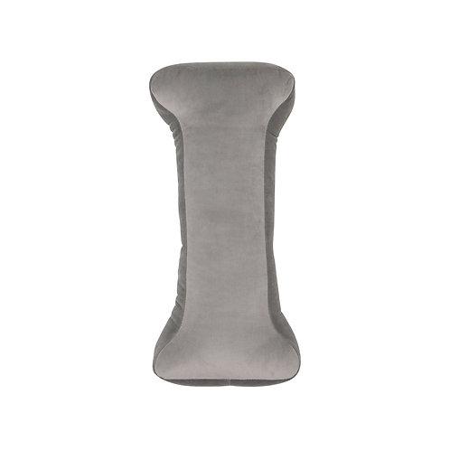 Velvet Letter I Cushion Grey