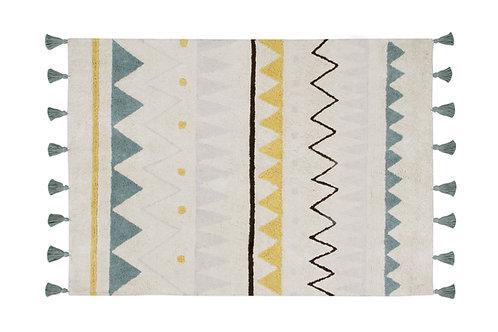 Lorena Canals Washable Rug Azteca Natural Vintage Blue