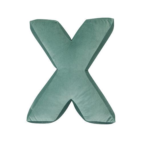 Velvet Letter X Mint