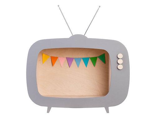 Up! Warsaw Kids TV Wooden Shelf - Dusty Grey