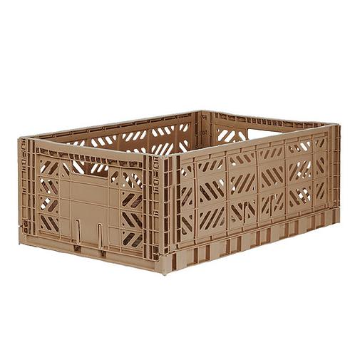 Aykasa Maxi Folding Crate in Warm Taupe