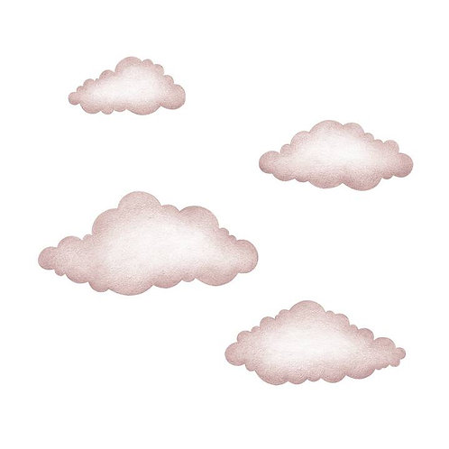 Pink Clouds reusable Wall Stickers