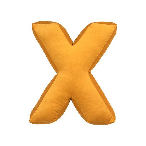 Velvet Letter X Mustard