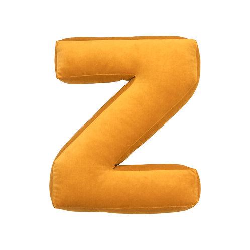 Velvet Letter Z Mustard