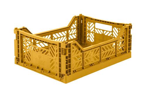 Aykasa Midi Foldable Crate in Mustard