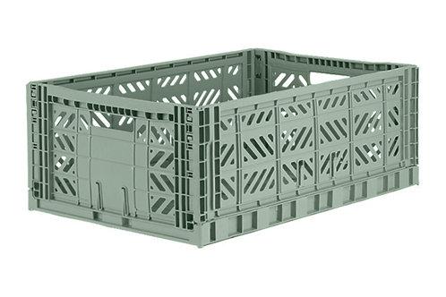 Aykasa Maxi Folding Crate in Almond Green