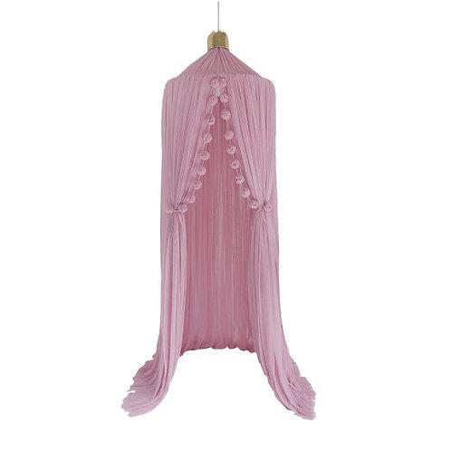 Dreamy Canopy + 1 Mini Pom Garland in Blush set