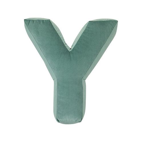 Velvet Letter Y Mint