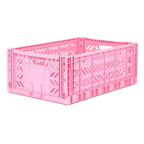 Aykasa Maxi Folding Crate in Baby Pink