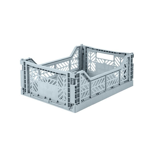 Aykasa Midi Foldable Crate in Pale Blue