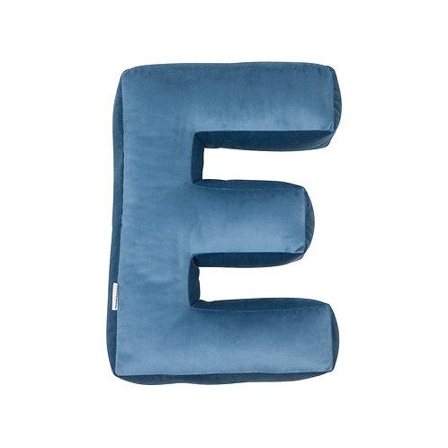 Velvet Letter E Cushion