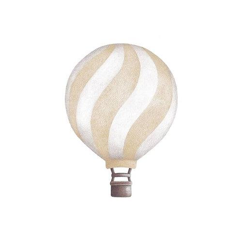 Light Beige Wavey Vintage Balloon Wall Sticker