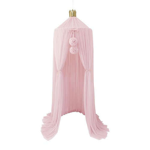 Dreamy Canopy + 1 Pom Garland in Light Pink set
