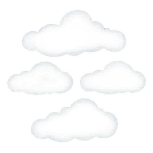 Big Clouds reusable Wall Stickers