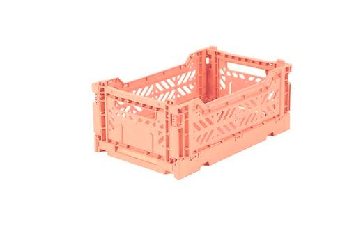 Aykasa Mini Foldable Crate in Salmon
