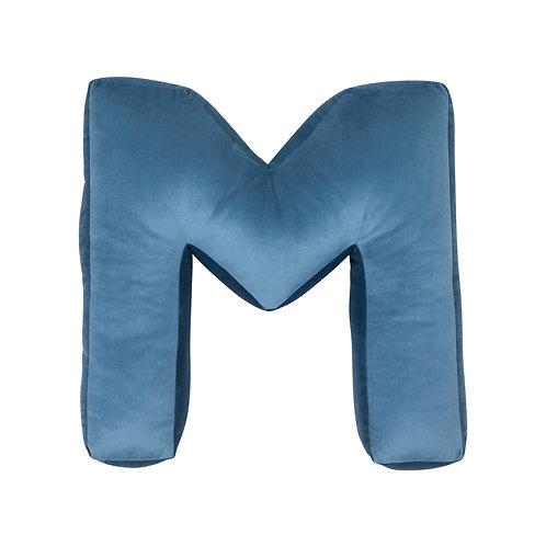 Velvet Letter M Cushion