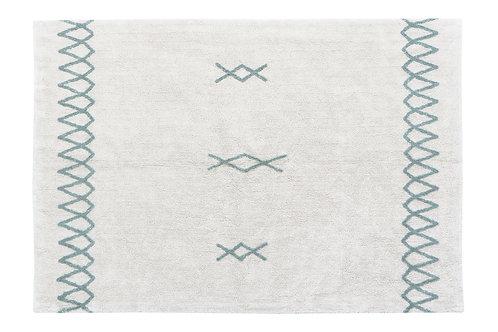 Lorena Canals Washable rug Atlas Natural - Vintage Blue L