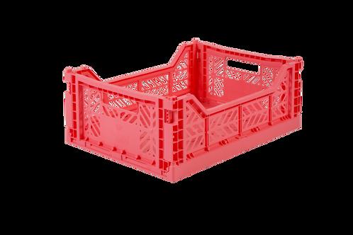 Aykasa Midi Foldable Crate in Dark Pink
