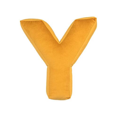 Velvet Letter Y Mustard