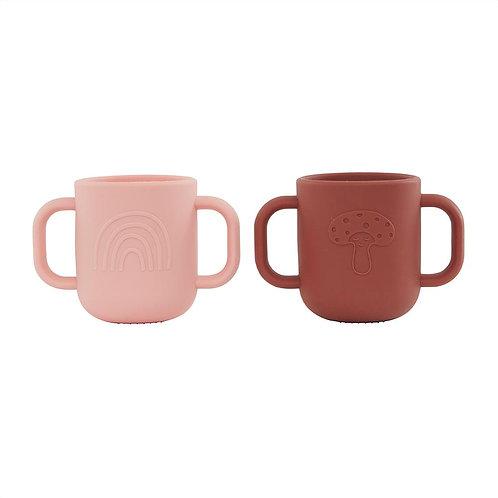 Kappu Cup - Pack of 2 - Coral / Nutmeg