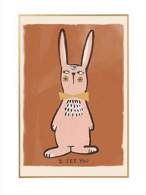 Studioloco Rabbit Wall Poster