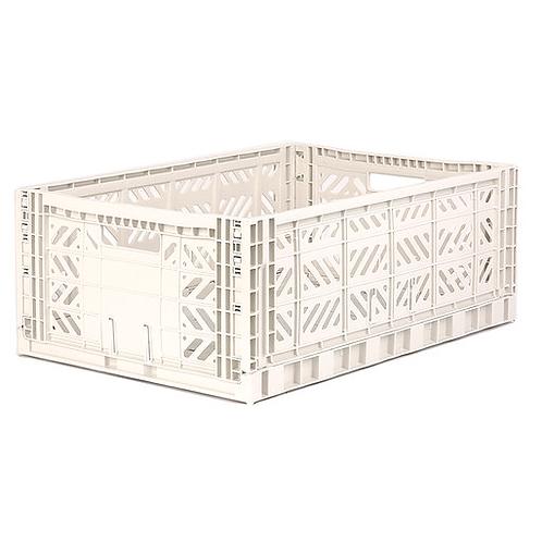 Aykasa Maxi Folding Crate - Coconut Milk