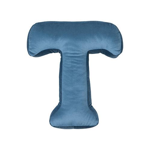 Velvet Letter T Cushion
