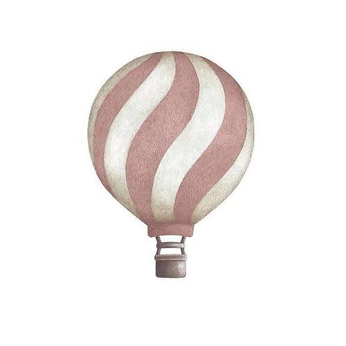 Dark Pink Wavey Vintage Balloon Wall Sticker