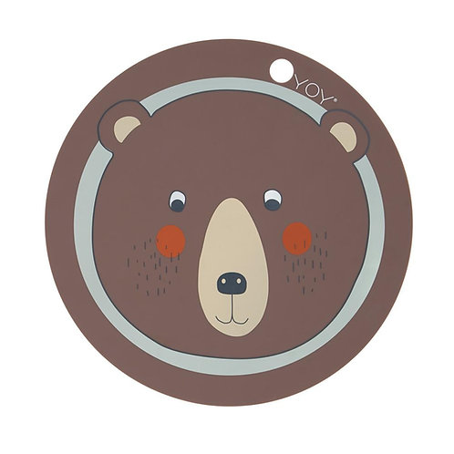 Placemat Bear - Brown