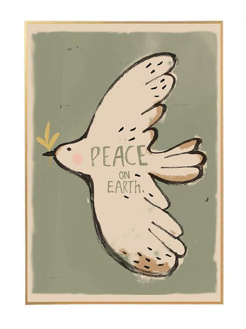 Studioloco Peace Bird Wall Poster