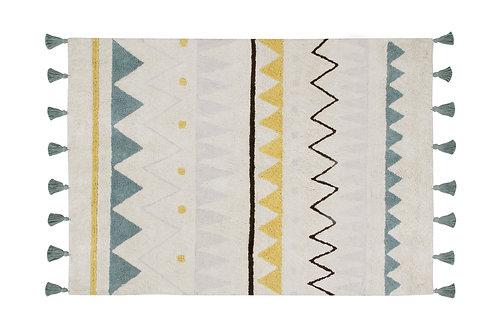 Lorena Canals Washable Rug Azteca Natural Vintage Blue L