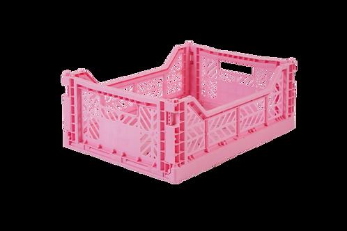 Aykasa Midi Foldable Crate in Baby Pink