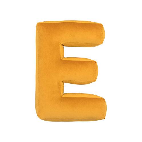 Velvet Letter E Mustard