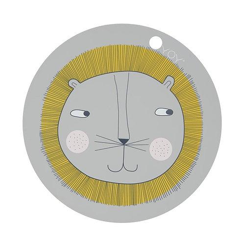 Placemat Lion - Light Grey