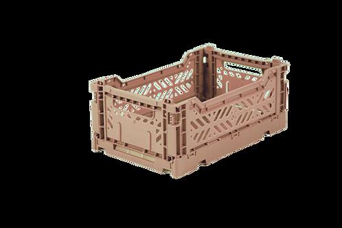 Aykasa Mini Foldable Crate in Warm Taupe