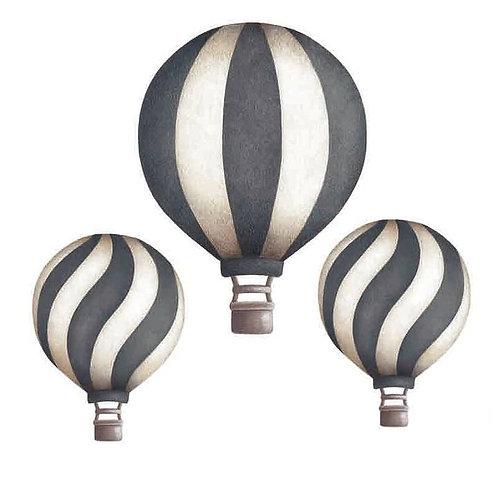 Dark Blue Vintage Balloon Set