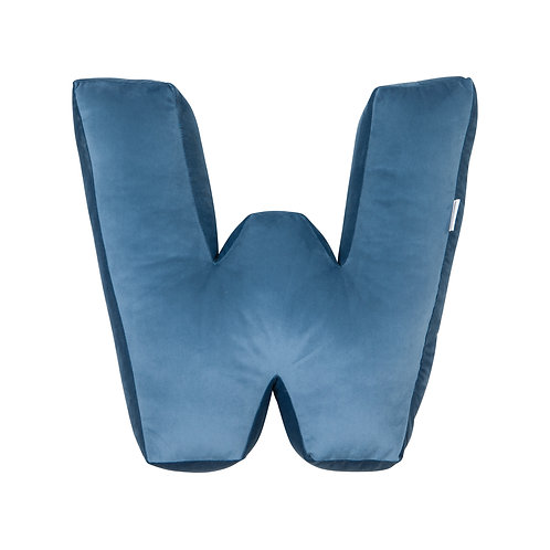 Velvet Letter W Cushion