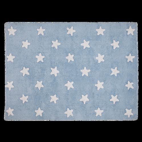 Lorena Canals Washable Rug Stars Blue-White