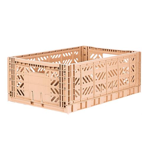 Aykasa Maxi Folding Crate in Milk Tea