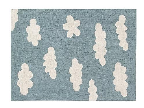 Lorena Canals Washable Rug Clouds Vintage Blue