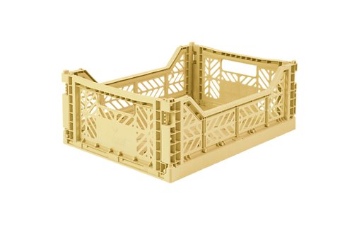 Aykasa Midi Foldable Crate in Banana